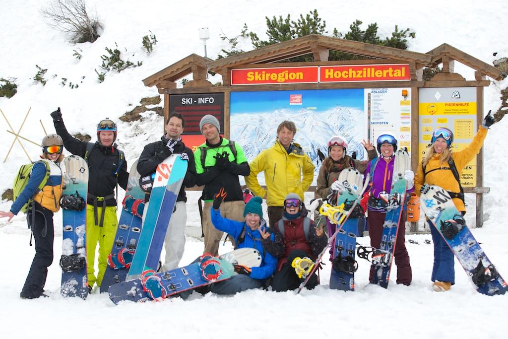 Völkl Split und Freeride Camps mit Aline Bock