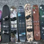 Feinste Splitboardauswahl von links nach rechts: Burton, Pogo, Rossignol, Völkl, Prior, Arbor, Jones & Nitro