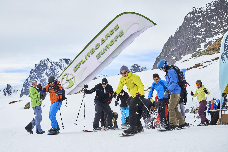 Start zum wahrscheinlich einzigen Splitboard Rennen der Alpen: CTM!