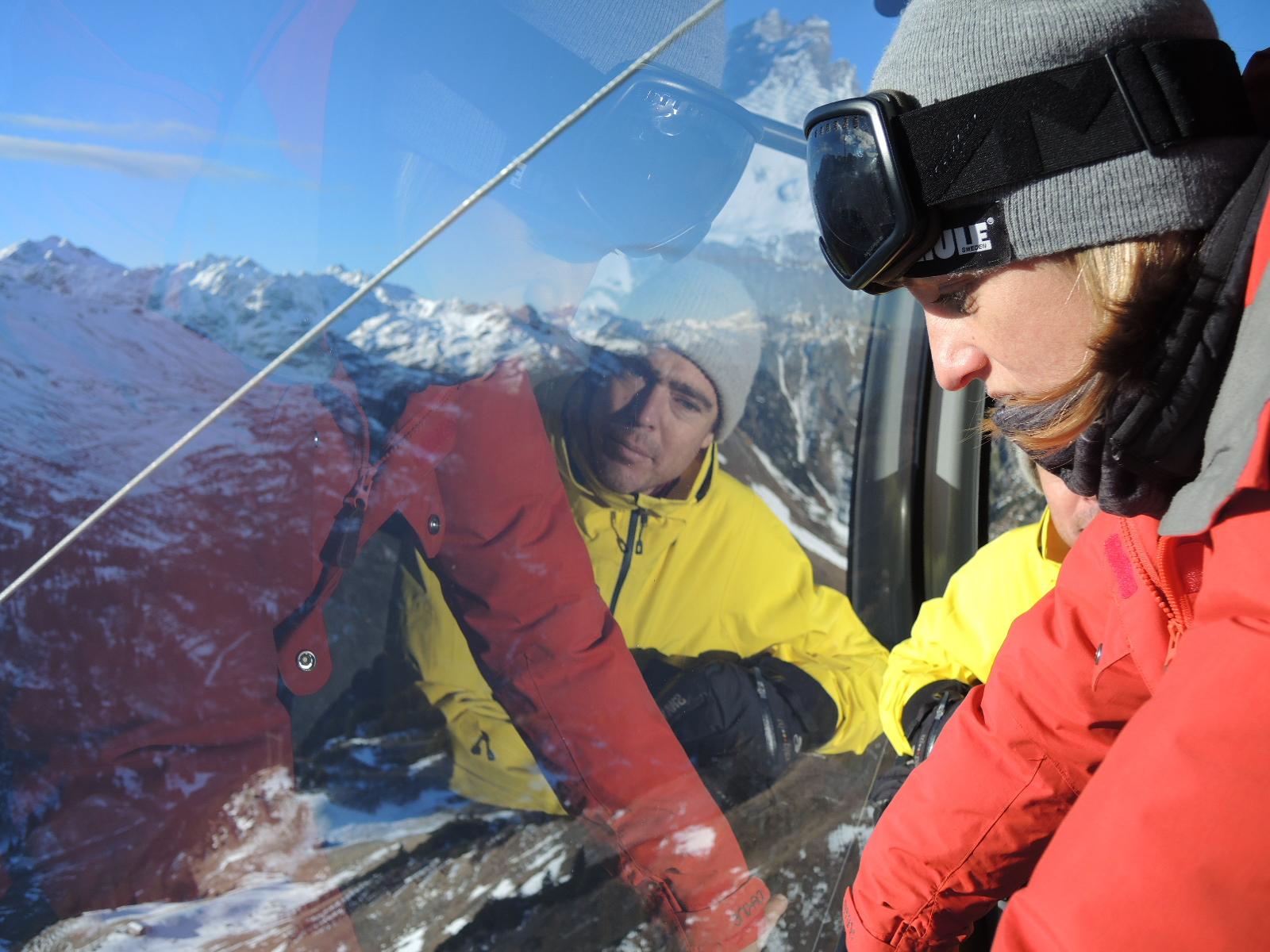 Aline Bock und Chris Schnabel in der neuen Flexenbahn