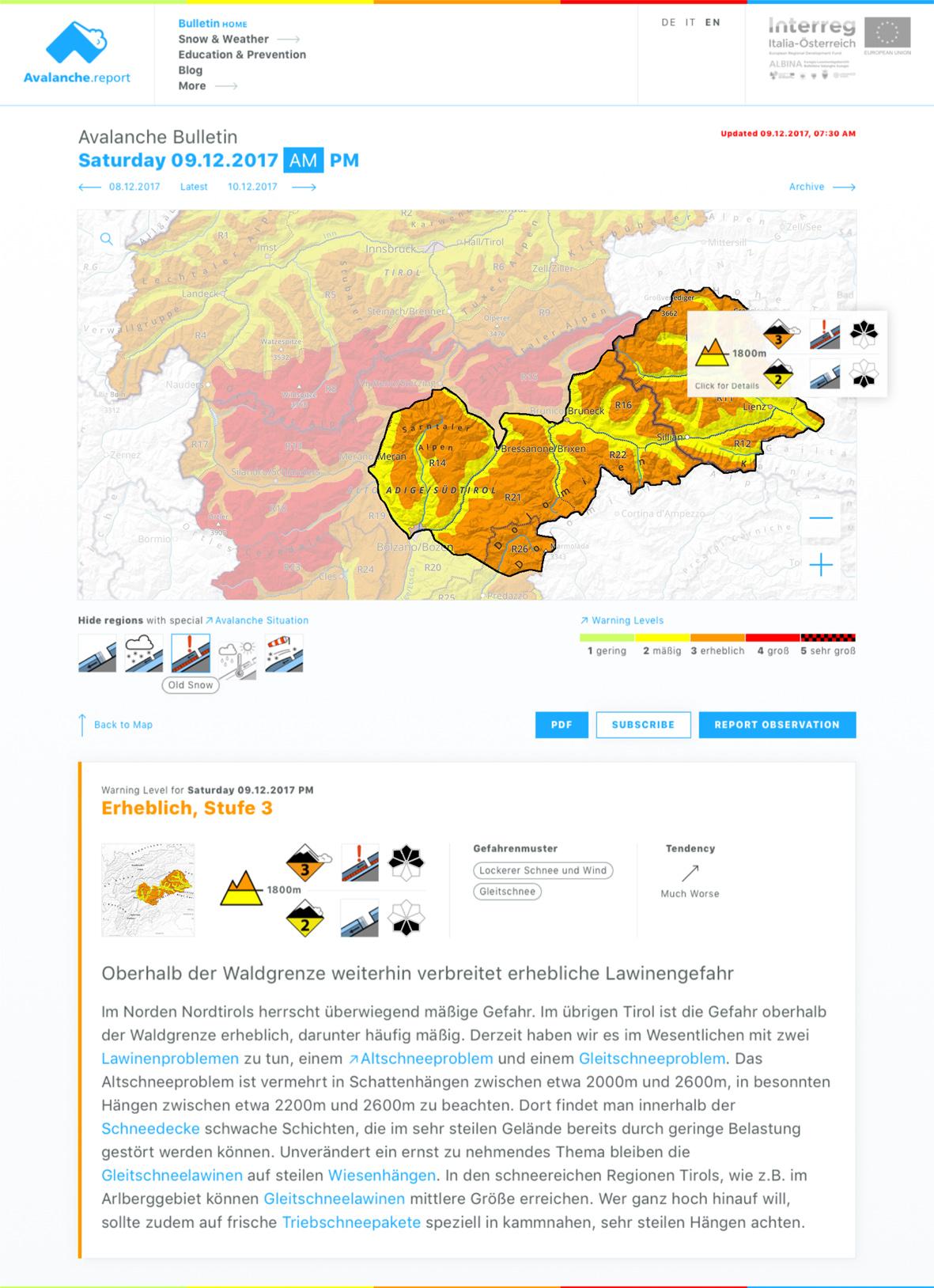 avalanche.report - Startseite Kopie