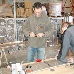 2005: Endmontage der Burton Splitboards mit Voile Kits für den europäischen Markt